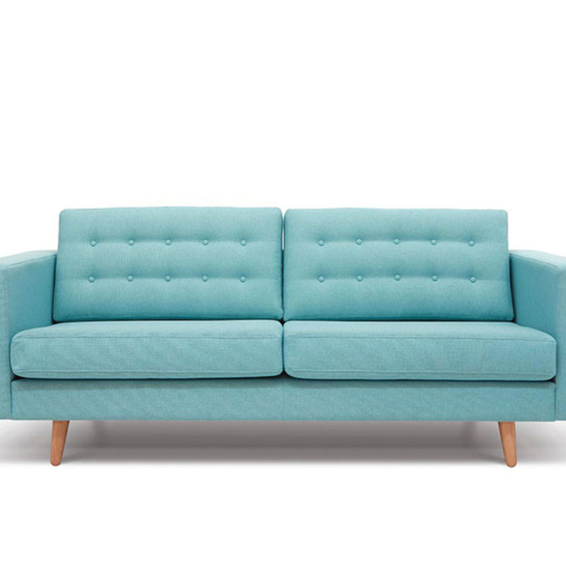 Two seater blue sofa bed 1 coevolutions for Sofa bed 1 seater